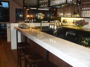 Bar - Commercial stone benchtop installation