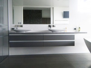 Modern Stone Bathroom Vanity (double sink)