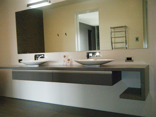 Bathroom Fixtures Queenstown stone & engineered stone bathroom vanity - queenstown, rock solid